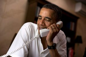Obama on the line